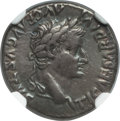 Ancients:Roman Imperial, Ancients: Tiberius (AD 14-37). AR denarius (18mm, 3.78 gm, 10h). NGC Choice VF★ 5/5 - 5/5....