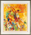 Basketball Collectibles:Others, 1977 NBA All Star Game Signed LeRoy Neiman Serigraph. ...