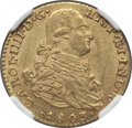 Colombia, Colombia: Charles IV gold 2 Escudos 1803 NR-JJ AU58 NGC,...