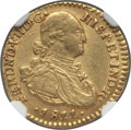 Colombia, Colombia: Ferdinand VII gold Escudo 1811 NR-JF AU Details (Cleaned)NGC,...