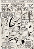 Original Comic Art:Splash Pages, Don Heck and Dick Ayers Avengers #13 Splash Page 1 OriginalArt (Marvel, 1965)....