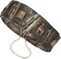 Gemini Goodwill Tour [Jewelry]: Janet Armstrong's Peruvian .825 Silver / 18K Gold Bracelet Directly From The Armstrong...