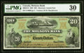 Canadian Currency, Montreal, PQ- The Molsons Bank $20 Jan. 2, 1904 Ch. # 490-26-10 PMG Very Fine 30.. ...