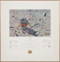 "Explorers:Space Exploration, Alan Bean Signed Limited Edition ""In Flight"" Color Print, #435/850, also Signed by the Apollo 14 Crew, in Framed Display...."