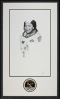 Explorers:Space Exploration, Michael Collins Signed Limited Edition Thomas Smith Print in the Paul Calle Style, #7/50, in Framed Display with Mission Insig...