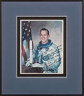 Explorers:Space Exploration, Edward White II Signed Silver Spacesuit Color Photo in Framed Display. ...