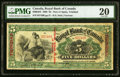 Canadian Currency, Port of Spain, Trinidad- The Royal Bank of Canada $5 Jan. 2, 1909 Ch. # 630-64-02 PMG Very Fine 20.. ...