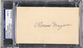 Baseball Collectibles:Others, 1940's Honus Wagner Signed Index Card, PSA/DNA Mint 9....
