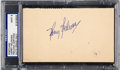 Baseball Collectibles:Others, 1940's Harry Heilmann Signed Government Postcard, PSA/DNA Mint 9....