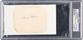 Baseball Collectibles:Others, Circa 1950 Honus Wagner Signed Cut Signature, PSA/DNA Authentic....