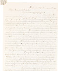 Military & Patriotic:Civil War, Clara Barton Autograph Letter Signed...