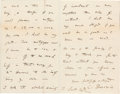 Autographs:Non-American, Charles Darwin Autograph Letter Signed...