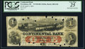 Obsoletes By State:Rhode Island, Providence, RI- Continental Bank $1 Apr. 2, 1863 G2b Durand 1233 PCGS Very Fine 25.. ...