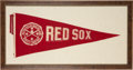 Baseball Collectibles:Others, Circa 1915 Boston Red Sox World Champions Large Pennant....