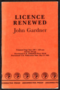 "Movie Posters:James Bond, Licence Renewed by John Gardner (Jonathan Cape, 1981). Very Fine-.Uncorrected British Proof Book (272, 5"" X 7.75""). James B..."