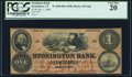 Obsoletes By State:Connecticut, Stonington, CT- Stonington Bank $1 Jan. 1, 1865 G8a PCGS Very Fine 20.. ...