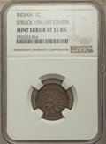 No Date 1C Indian Cent -- Struck 15% Off Center -- VF35 NGC