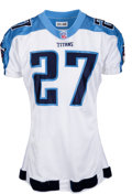 Football Collectibles:Uniforms, 2001 Eddie George Game Worn Tennessee Titans Jersey - Photo Matched to 11/18 vs. Bengals....