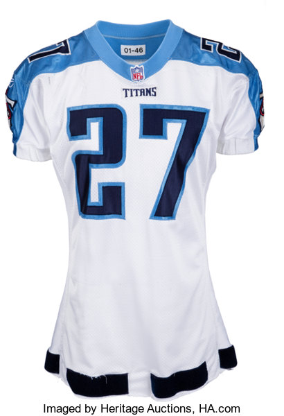 cheap for discount 9045a 9b1e6 2001 Eddie George Game Worn Tennessee Titans Jersey - Photo ...