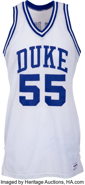cheap for discount cb0ea fb76a 1986-87 Billy King Game Worn Duke Blue Devils Jersey & | Lot ...