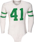 Football Collectibles:Uniforms, Late 1940's Early 1950's Frank Ziegler/Jerry Norton Game Worn Philadelphia Eagles Jersey....