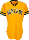 Baseball Collectibles:Uniforms, 1986 Jose Canseco Game Worn Oakland Athletics Rookie Jersey....