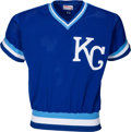 Baseball Collectibles:Uniforms, 1983 George Brett Game Worn Kansas City Royals Batting Practice Jersey....
