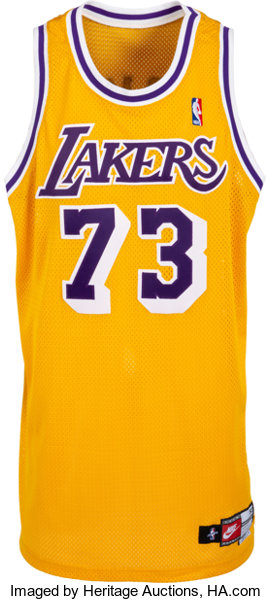 best sneakers 1c205 537ed 1998 Dennis Rodman Game Worn Los Angeles Lakers Jersey ...