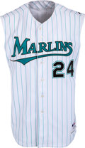 Baseball Collectibles:Uniforms, 2007 Miguel Cabrera Game Worn Florida Marlins Throwback Jersey....