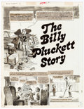 "Original Comic Art:Complete Story, John Severin Cracked #169, Complete 6-page Story ""The Billy Pluckett Story"" Original Art (Major Magazines, 1980). ..."