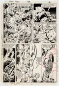 Original Comic Art:Panel Pages, Bob Budiansky and Dave Simons Ghost Rider #72 Page 2Original Art (Marvel, 1982)....