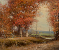 Robert William Wood (American, 1889-1979) In the Fall Oil on canvas 25 x 30 inches (63.5 x 76.2 c