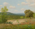 Fine Art - Painting, American, Porfirio Salinas (American, 1910-1973). A Spring Day. Oil oncanvas. 20 x 24 inches (50.8 x 61.0 cm). Signed lower left:...