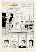 """Original Comic Art:Complete Story, Dan DeCarlo Betty and Me #2 Complete 5-Page Story """"Home Sweet Homework"""" Original Art (Archie Comics, 1965). ... (Total: 5 Original Art)"""