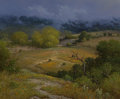Fine Art - Painting, American, Jerry Ruthven (American, b. 1947). Mist over Bee CaveHollow, 1986. Oil on canvas. 40 x 48 inches (101.6 x 121.9 cm).Si...