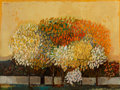 Fine Art - Painting, American, David Pryor Adickes (American, b. 1927). Yellow Landscape.Oil on panel. 36 x 48 inches (91.4 x 121.9 cm). Signed upper ...