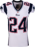 Football Collectibles:Uniforms, 2014 Darrelle Revis Game Worn New England Patriots Preseason Jersey - Photo Matched to 8/14 vs. Panthers....