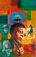 Original Comic Art:Covers, Kelly Freas Recoil Paperback Novel Cover Painting Original Art (Ace Double Books, 1971)....
