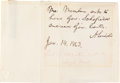 Autographs:U.S. Presidents, Abraham Lincoln Autograph Endorsement Signed ...