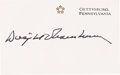 Autographs:U.S. Presidents, Dwight Eisenhower Card Signed...