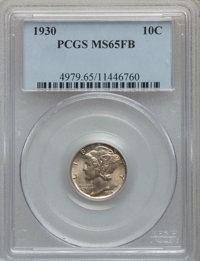 1930 10C MS65 Full Bands PCGS. PCGS Population: (197/162). NGC Census: (60/26). CDN: $350 Whsle. Bid for problem-free NG...