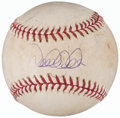 Autographs:Baseballs, 2006 Derek Jeter Singled Signed Game Used Baseball....