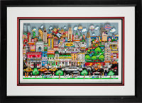 """2000's """"Uptown Downtown All Around the Town"""" Pop Art by Charles Fazzino"""