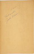 Baseball Collectibles:Others, 1960 Jackie Robinson Signed Autobiography....