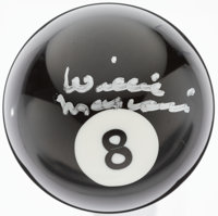 Willie Mosconi Signed Eight Ball
