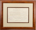 Autographs:U.S. Presidents, Abraham Lincoln Appointment of Ambassador to Peru Signed...