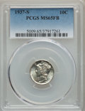 1937-S 10C MS65 Full Bands PCGS. PCGS Population: (409/460). NGC Census: (91/175). CDN: $150 Whsle. Bid for problem-free...
