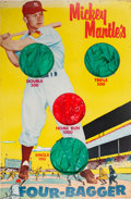 Baseball Collectibles:Others, 1950's Mickey Mantle's Four-Bagger Target Game....