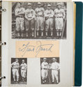 Baseball Collectibles:Photos, Circa 1950 Signed Cut Signatures Lot of 80....