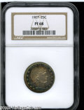 Proof Barber Quarters: , 1907 25C PR68 NGC....